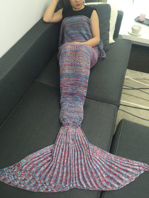 Canapé Kintted Wrap Sac de couchage Mermaid Blanket - multicolore