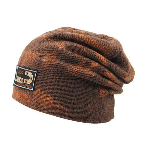 Winter Spotted Pattern Double-Deck Knit Ski Hat - LIGHT COFFEE