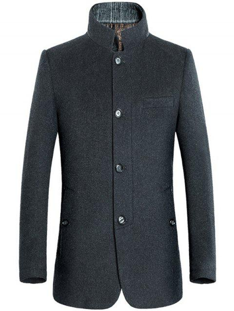 Pied de col single-breasted Coat Minceur Woolen - Gris M