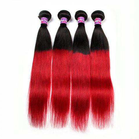3 Pcs Hot Straight Ombre Color 5A Remy Indian Hair Weaves