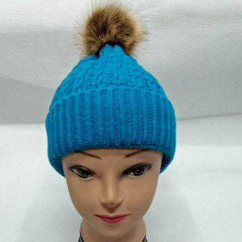 Ball Cable Knit Hat