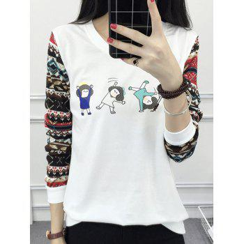 Cartoon Print Raglan Tee