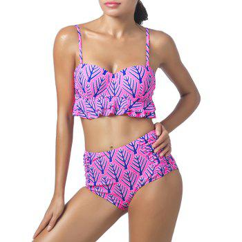Flounced Bra High Waisted Bikini Set