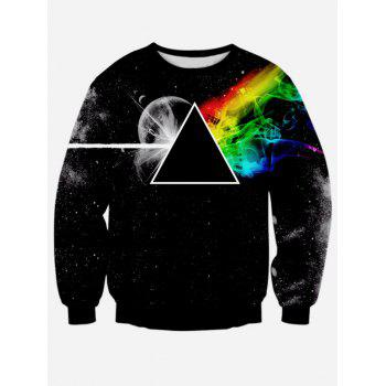 Prism Printing Long Sleeve Crew Neck Sweatshirt