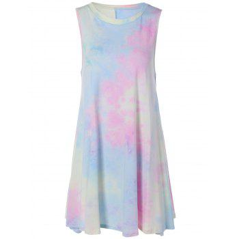 Tie-Dyed Mini Swing Dress