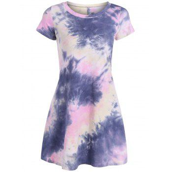 Loose Tie-Dyed T-Shirt Dress