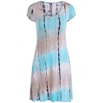 17 Off 2019 Loose Tie Dyed Snake Print Mini Dress In