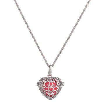 Pregnant Bead Love Heart Locket Necklace