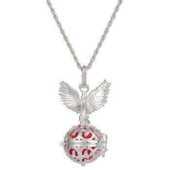 Pregnant Bead Guardian Angel Wings Necklace