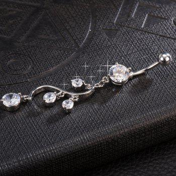 Rhinestone Adorn Navel Button