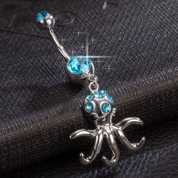 Strass Layered Devilfish Nombril Bouton - Pers