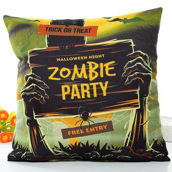 Halloween Soft Zombie Party Printed Pillow Case