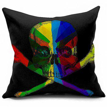 Sofa Cushion Halloween Colorful Skull Printed Soft Pillow Case