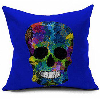 Sofa Cushion Retro Halloween Colorful Skull Printed Soft Pillow Case