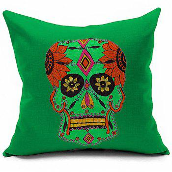 Sofa Cushion Halloween Floral Skull Printed Soft Pillow Case