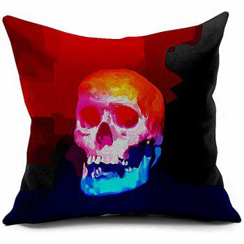 Sofa Cushion Vintage Skull Printed Soft Pillow Case