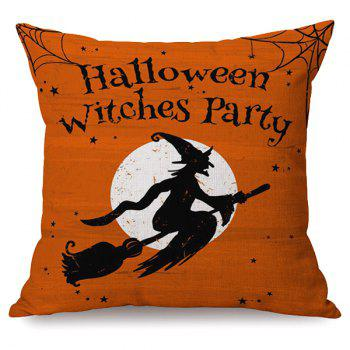 Halloween Sofa Cushion Witches Party Printed Pillow Case