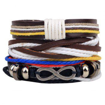 Infinity Faux Leather Braided Bracelet