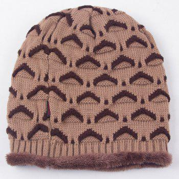 Winter Fish Scale Crochet Thicken Double-Deck Knit Ski Hat