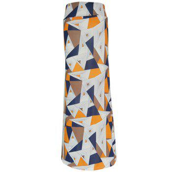 Abstract Geometric Veins Maxi High Waisted Skirt