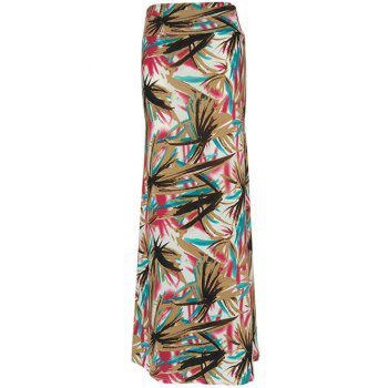 Graffiti Print Maxi High Waisted Skirt