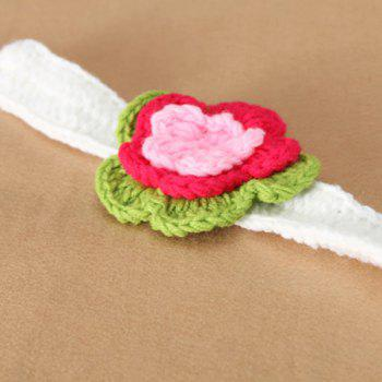 Crocheted  Infant Flower Headband Photography Outfits -  WHITE