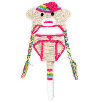 Crochet Pendant Hat Monkey Baby Photography Clothes Set