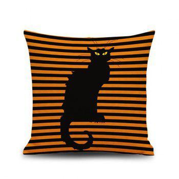Hot Sale Cat Stripe Pattern Halloween Pillow Case