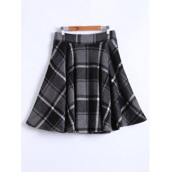Checked Winter Skater Skirt