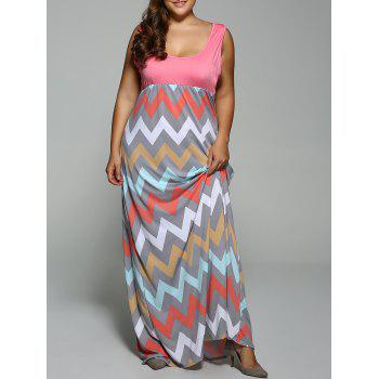 Plus Size Empire Waist Zig Zag Dress