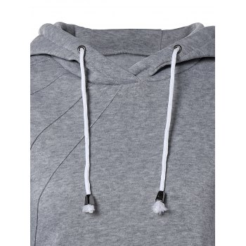 Pocket design Hoodie Drawstring - gris M