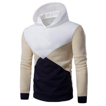 Slim Fit Color Blocked Pullover Hoodie