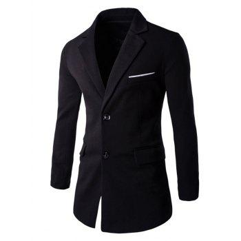 Slim Fit Single-Breasted Back Slit Blazer