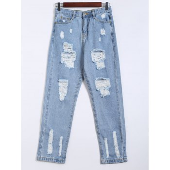 Destroy Wash Frayed Harem Jeans