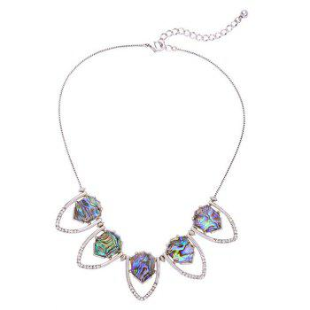 Rhinestone Faux Stone Geomrtric Necklace