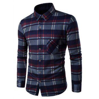 Button Up Fleece Lined Checked Shirt