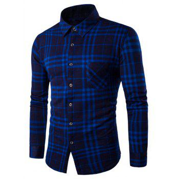 Buy Long Sleeve Fleece Lined Checked Shirt BLUE
