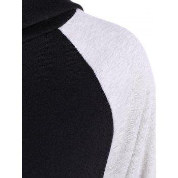 Two Tone Pullover Hoodie - BLACK/GREY BLACK/GREY