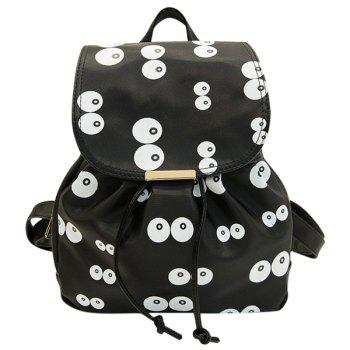 Eye Pattern Nylon Drawstring Printed Backpack