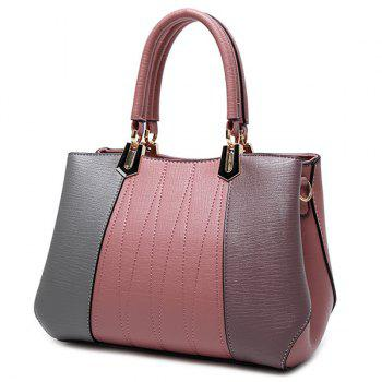 Stitching Metal Color Spliced Tote Bag