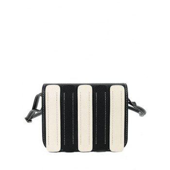 Covered Closure Color Spliced Stitching Crossbody Bag