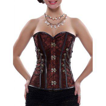 Vintage Steampunk Alloy Chain Lace-Up Corset