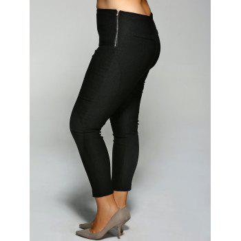 Zippered Plus Size Pants