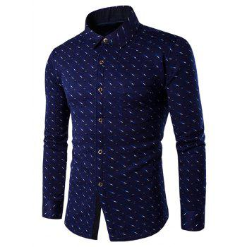 Fleece Lined Breast Pocket Button Up Printed Shirt