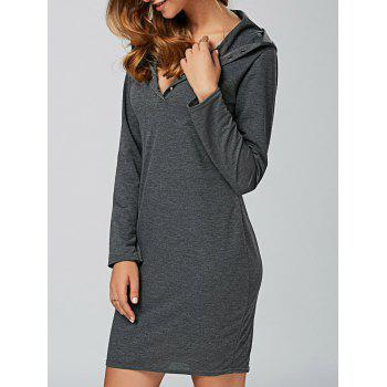 Hooded Long Sleeve T-Shirt Dress