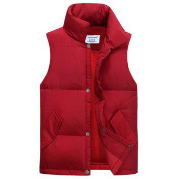 Stand Collar Thicken Cotton Padded Waistcoat