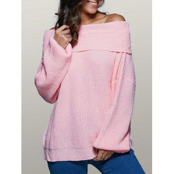 Lantern Sleeve Off The Shoulder Sweater
