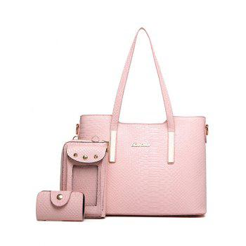 PU Leather Metal Snake Embossed Shoulder Bag