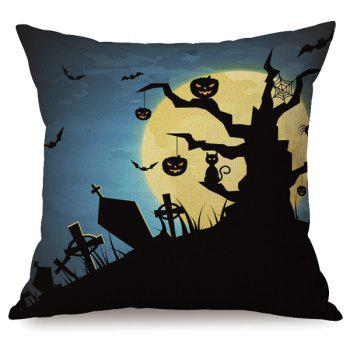 Durable Sofa Cushion Halloween Night Pumpkins Printed Pillow Case - COLORMIX COLORMIX