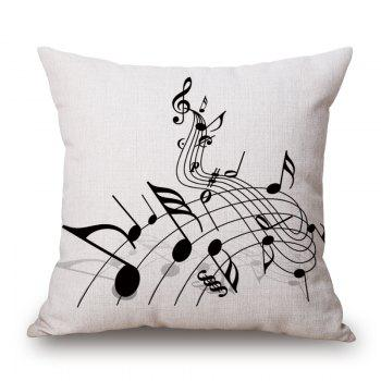 Casual Music Score Note Design Square Shape Pillowcase